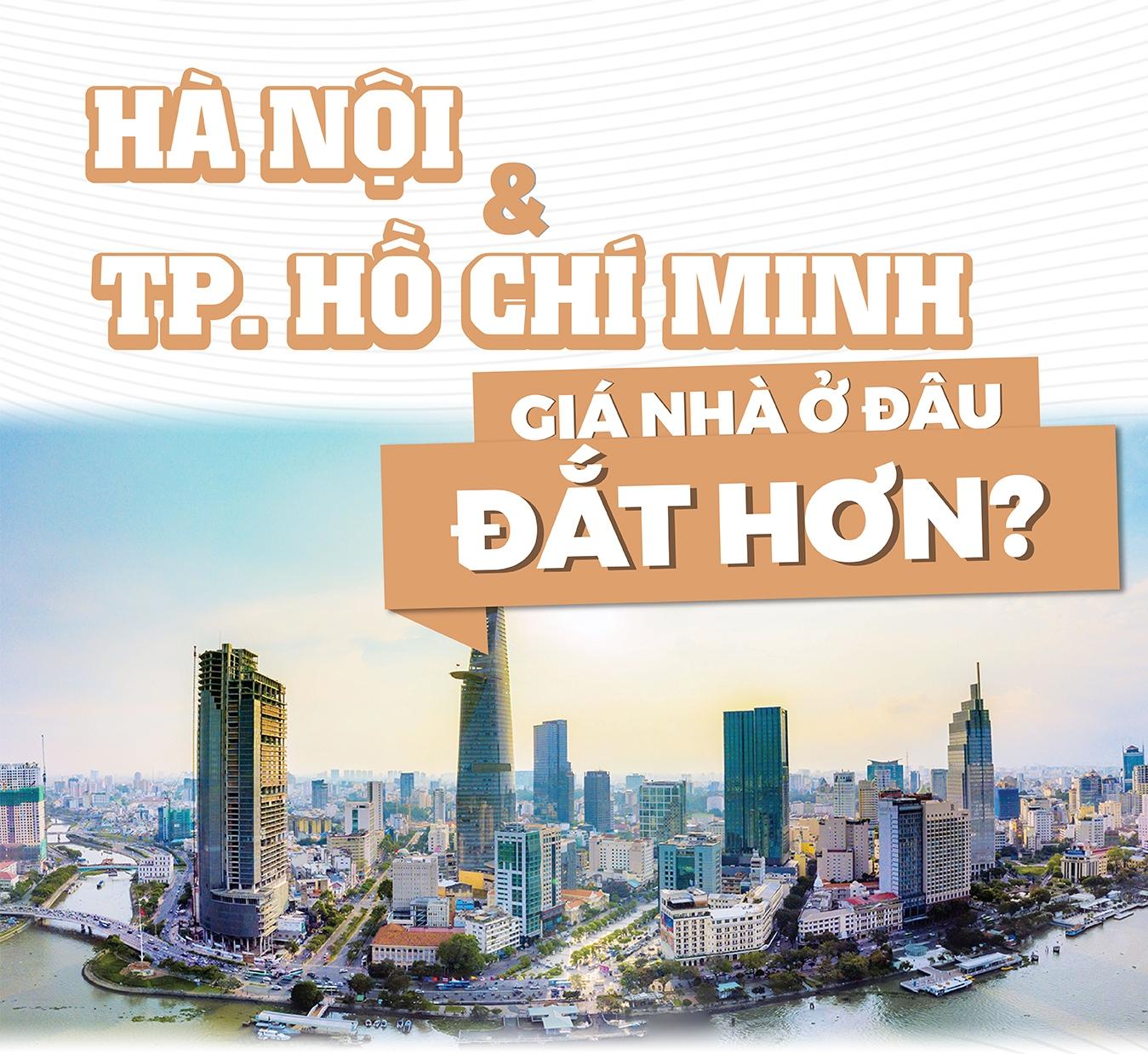 Hà Nội và TP.HCM, giá nhà ở đâu đắt hơn?