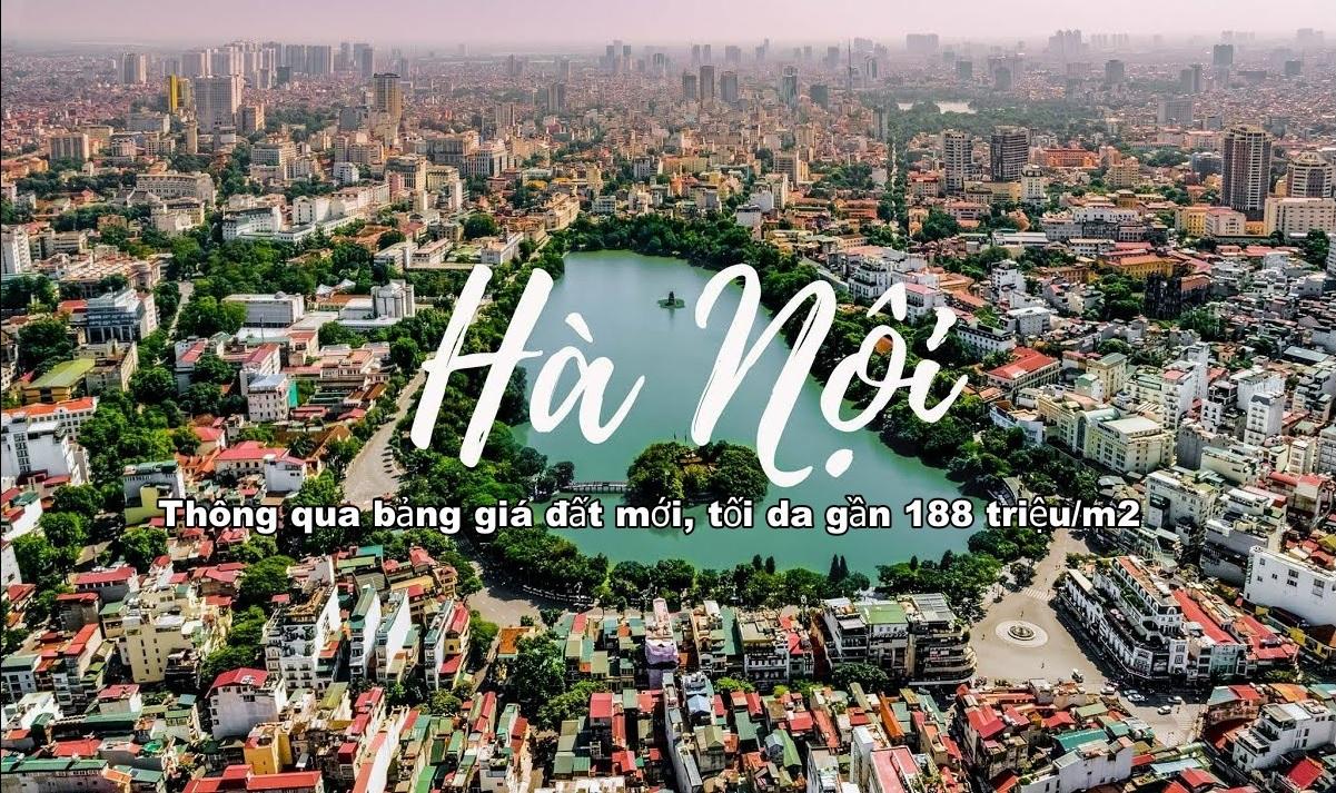 Hà Nội thông qua bảng giá đất mới, tối da gần 188 triệu/m2 ở quận Hoàn Kiếm gia dat ha noi 20202024 1577367410
