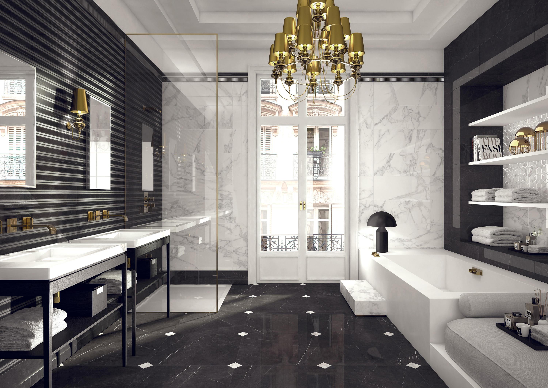 Gạch ốp tường vân đá marble