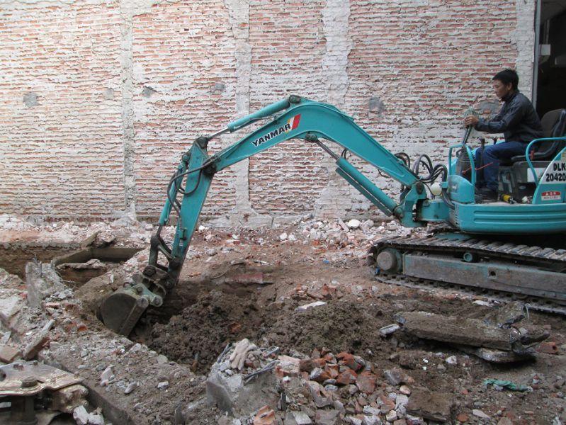 Đào móng khi xây dựng nhà