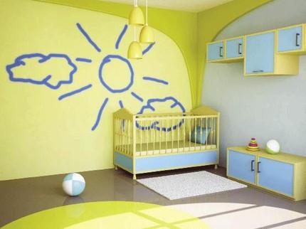 em be 2 1362147835 Bài trí phong thủy cho các bé nhà bạn luôn có giấc ngủ ngon