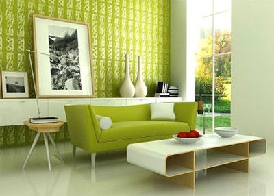 mauxanhlacay 1394034154 Màu sắc hợp phong thủy giúp cân bằng không gian sống nhà bạn