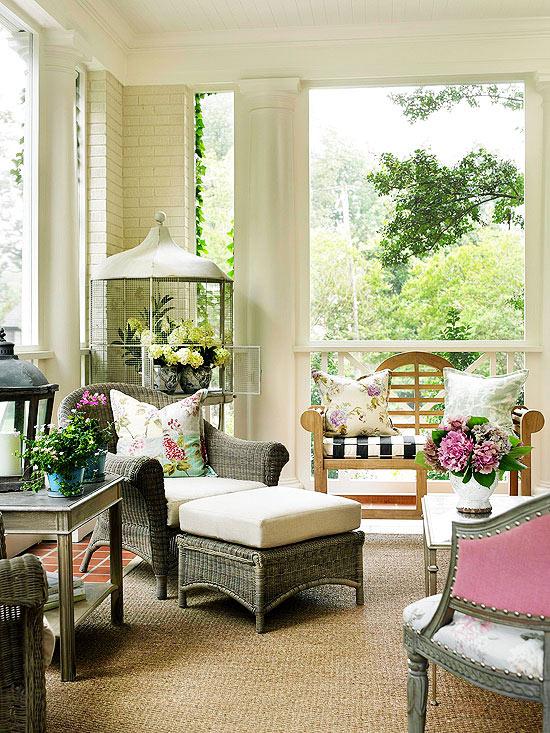 Thiết kế không gian đẹp, thoáng đãng cho hiên nhà