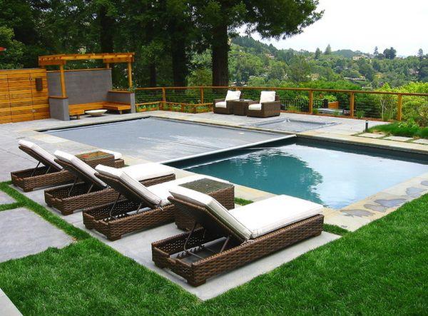 Làm đẹp không gian xung quanh bể bơi