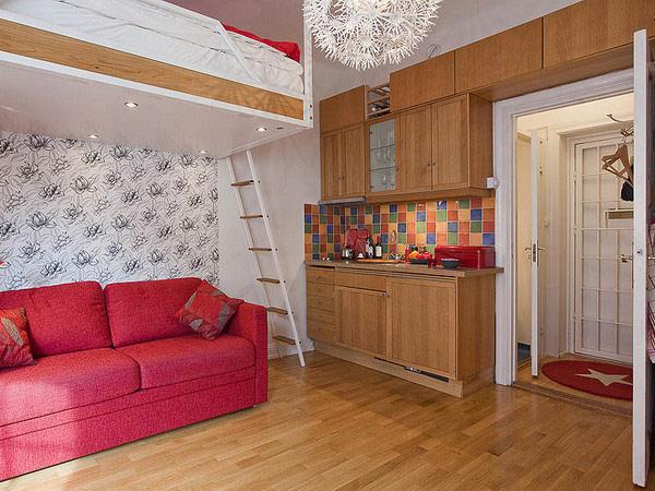 Thiết kế tuyệt vời và thực tế cho căn hộ 41,5 m2.
