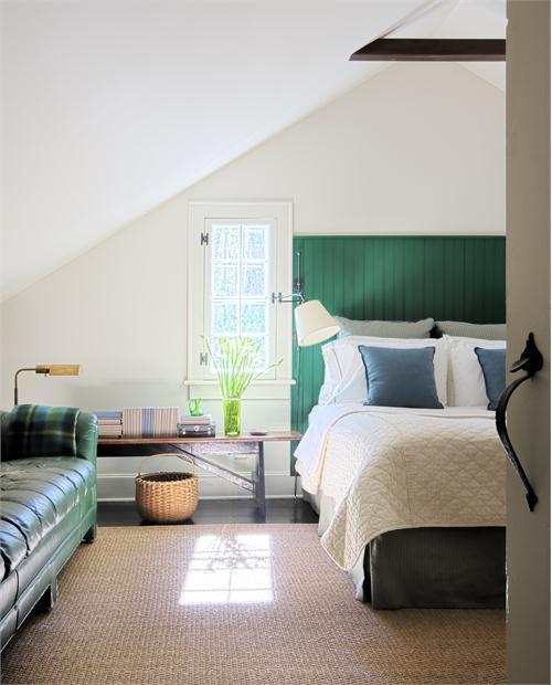 Nội thất màu xanh cho nhà mát mẻ ngày hè