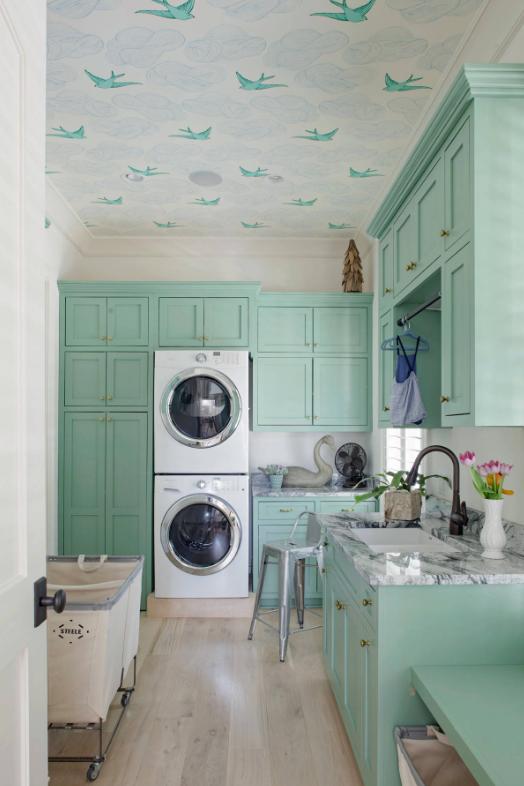Lạc lối giữa phòng giặt làm nổi bật không gian sống