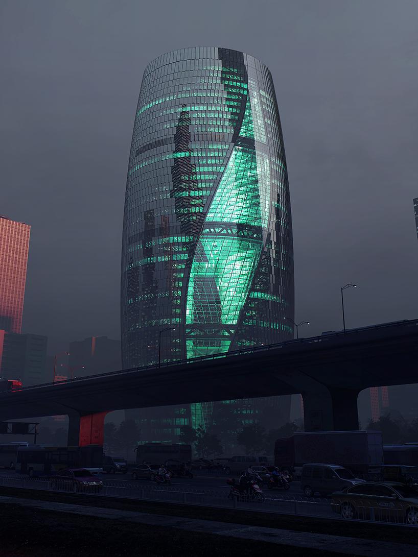 Khám phá tòa tháp hình trống thủy tinh Leeza SOHO