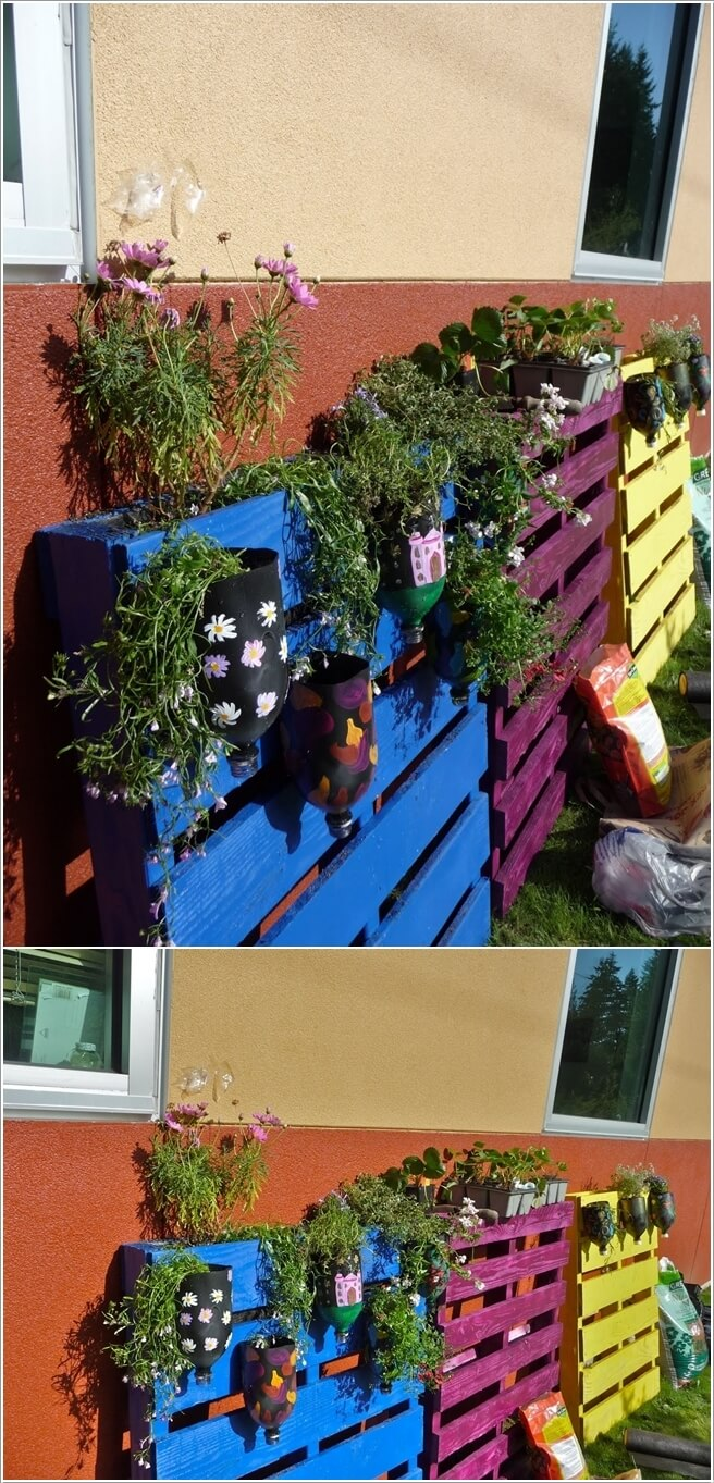 Trang trí nhà bằng những thanh pallet màu sắc