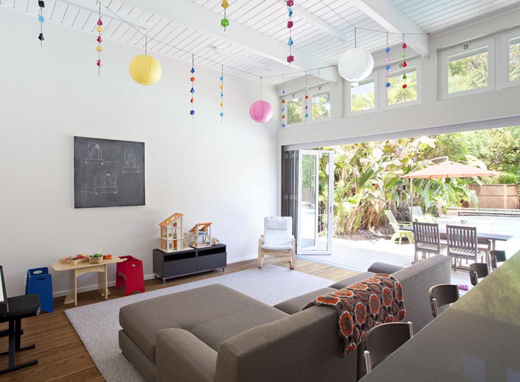 Ý tưởng tạo sân chơi cho trẻ tại phòng khách