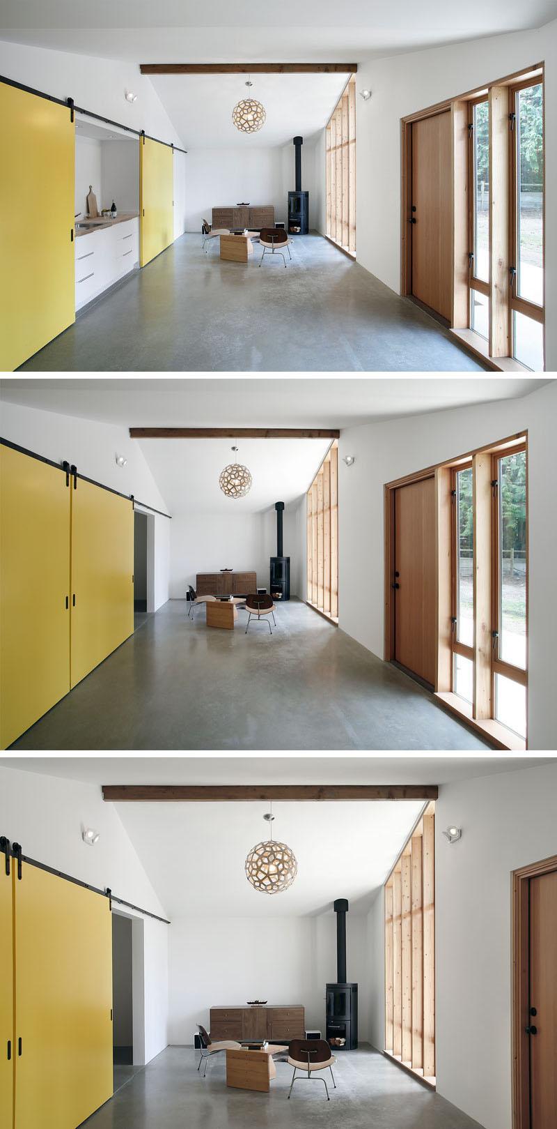 Nhà đẹp phong cách với cửa trượt hiện đại