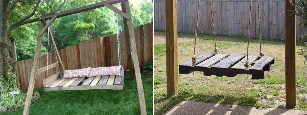 Mê mẩn với những mẫu ghế xích đu từ gỗ Pallet