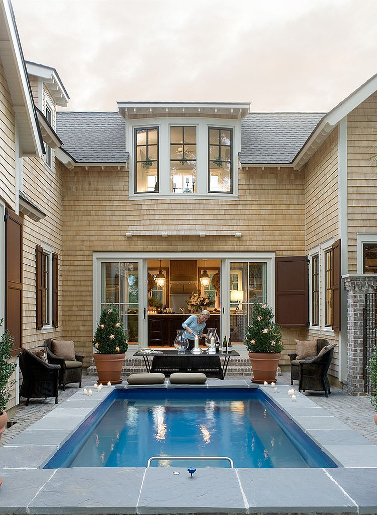 Thiết kế Resort tại gia với hồ bơi ngoài trời