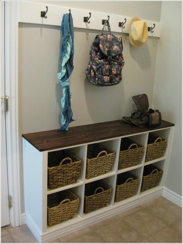 Ý tưởng lưu trữ nơi hành lang cho nhà nhỏ hẹp