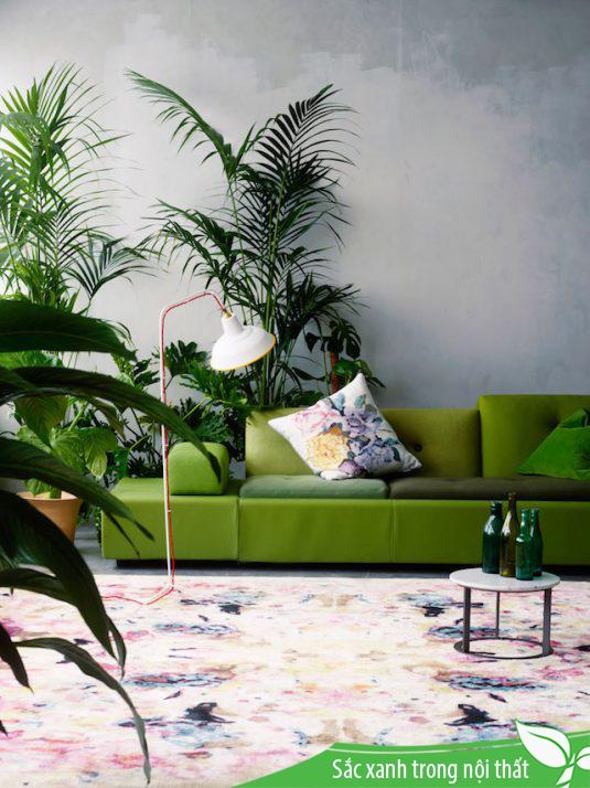 Xanh greenery, xu hướng thiết kế nội thất 2018