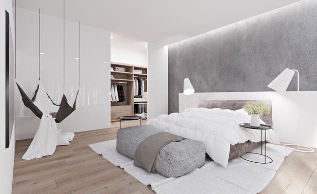 Biến tấu phòng ngủ với tông trắng