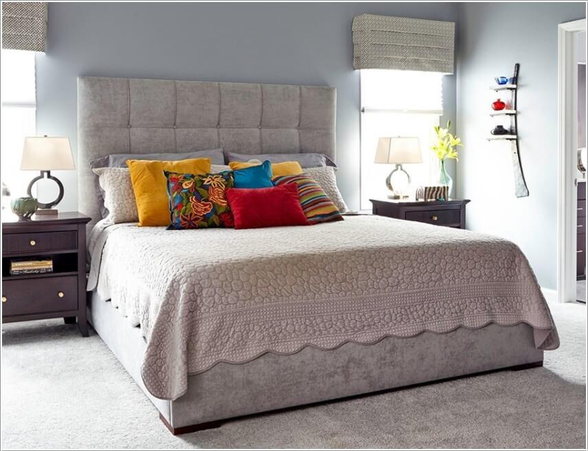 Trang trí phòng ngủ theo phong cách color block