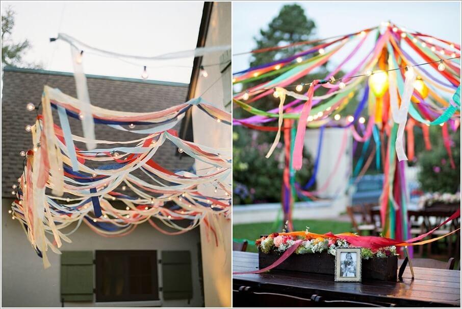 Trang hoàng không gian ngoài trời cho bữa tiệc cuối năm