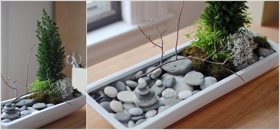 Thiết kế khu vườn mini siêu dễ thương để bàn