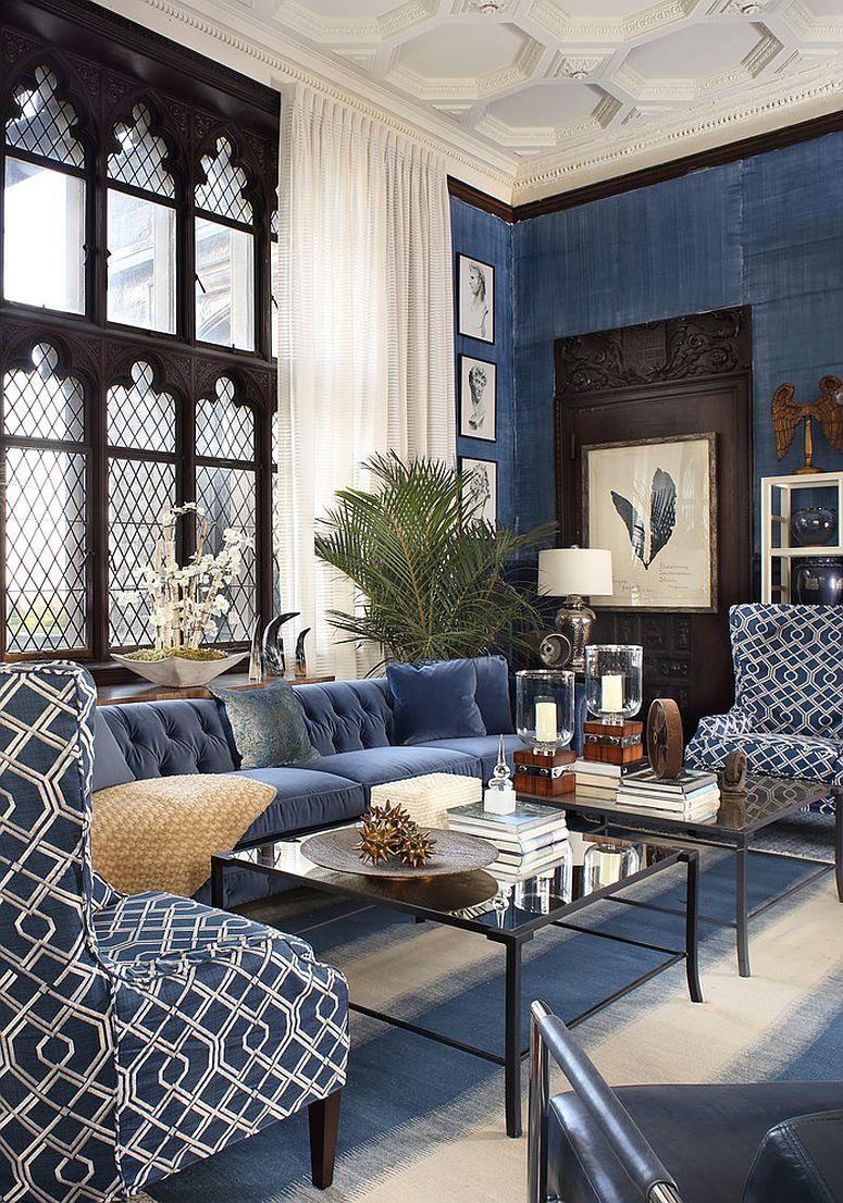 Bộ đôi màu sắc xanh – đen hoàn hảo cho căn nhà hiện đại