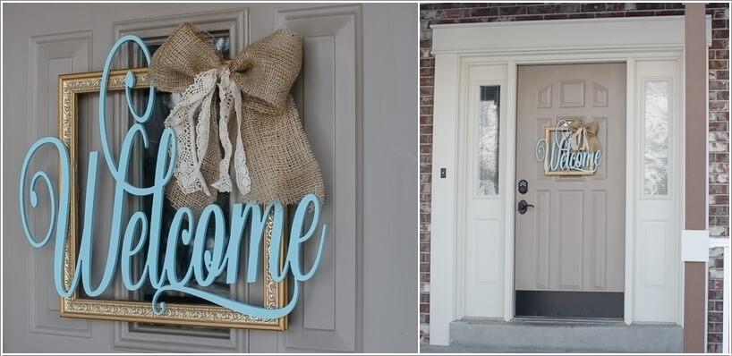 Tận dụng đồ cũ, trang trí cửa nhà thêm ấn tượng