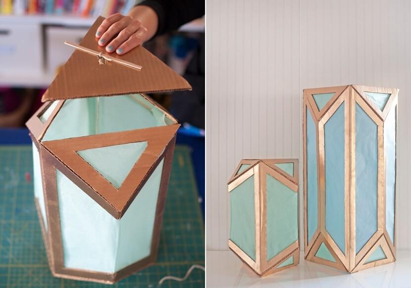 Sáng tạo tái chế thùng carton trang trí nhà cửa