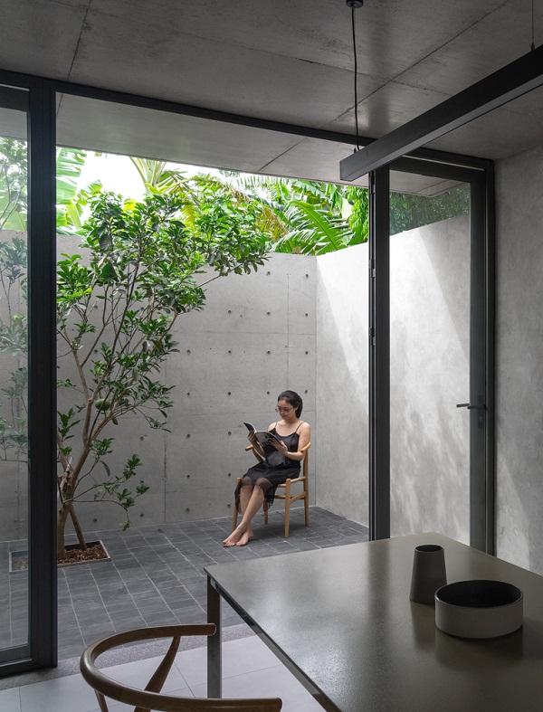 Nhà bê tông ưu tiên thông gió tại Hà Nội