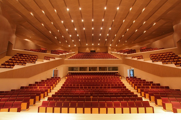 Ngắm nhà hát nhiều khối elip đan xen