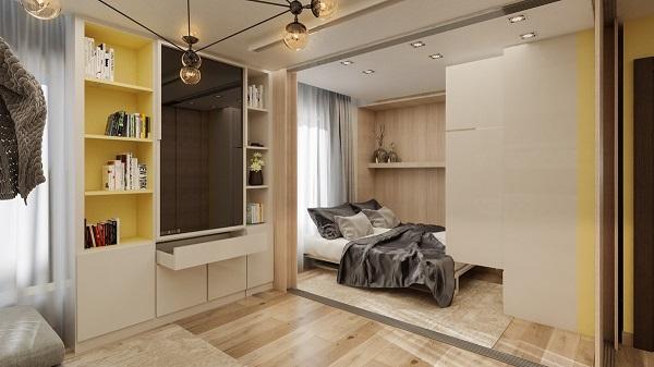 Không gian sống hiện đại trong căn hộ 45 m2