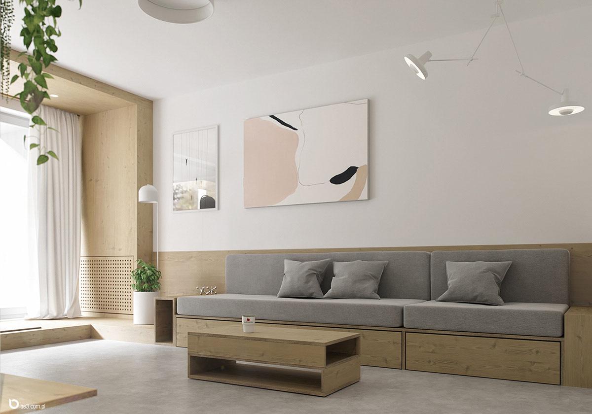 Không gian sống tinh tế, yên bình với bảng màu đơn giản