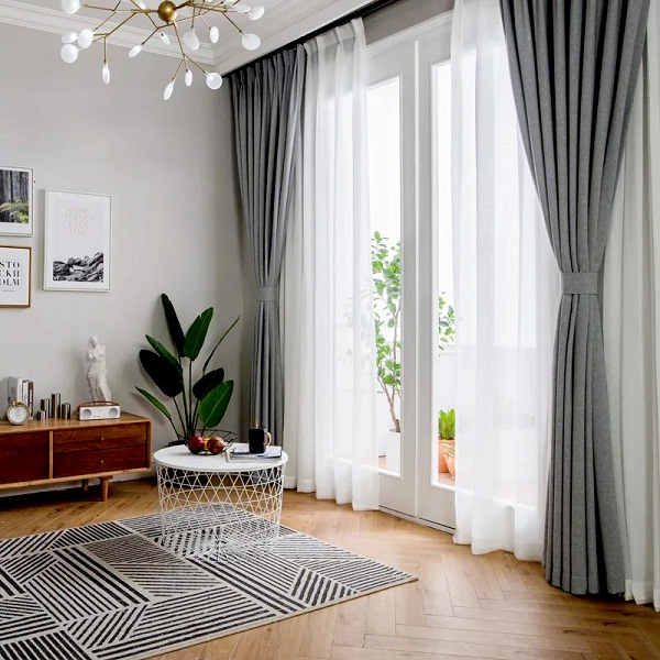 Rèm cửa trang trí phòng khách thông dụng nhất hiện nay - CafeLand.Vn
