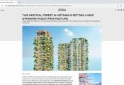Tòa tháp xanh Ecopark xuất hiện trên loạt báo quốc tế