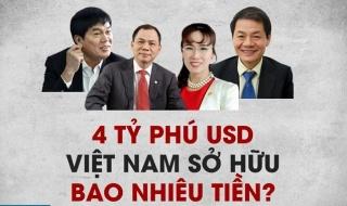 Giới siêu giàu Việt Nam tăng trưởng nhanh nhất thế giới