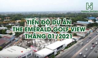 Tiến độ dự án The Emerald Golf View Bình Dương tháng 1/2021