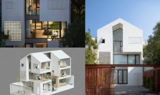 Ngôi nhà đầy nắng và gió với 3 mặt kính thông thoáng