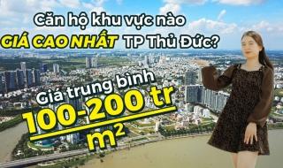 """""""Choáng"""" với top 6 khu vực có giá bán căn hộ cao nhất Thành phố Thủ Đức"""
