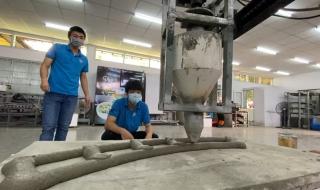 Nhóm sinh viên TP.HCM chế tạo robot in 3D bê tông