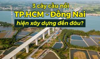 3 cây cầu Phước Khánh, Cát Lái, Nhơn Trạch nối TP.HCM - Đồng Nai hiện xây dựng đến đâu?