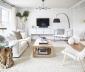 Phòng khách nhỏ thêm hiện đại, tinh tế khi sử dụng màu trắng