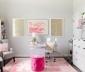 Ý tưởng trang trí góc làm việc ngọt ngào với tông màu hồng