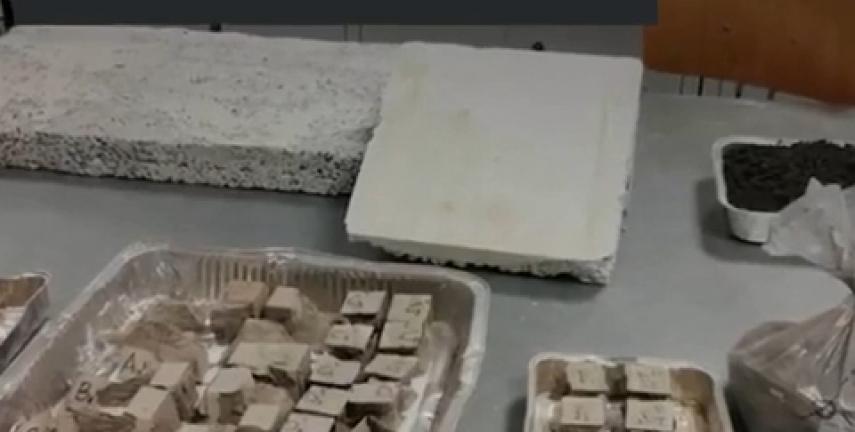 Dùng tro núi lửa làm vật liệu xây dựng