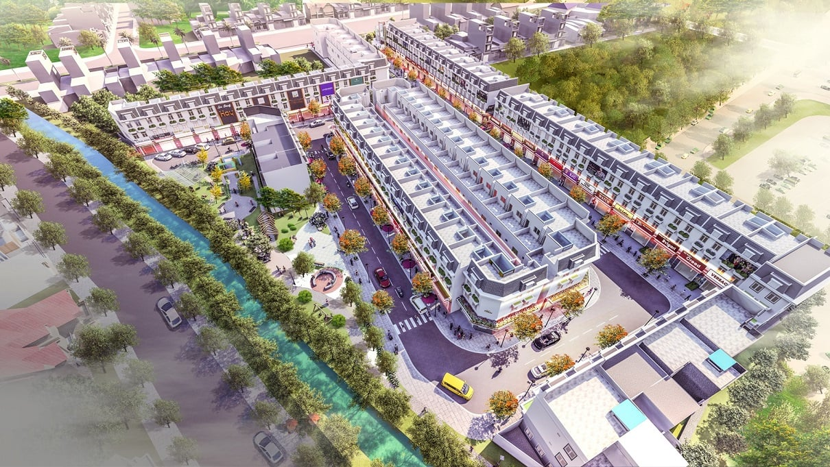 Nhà phố thương mại Đại Phát Mall Town Bình Dương