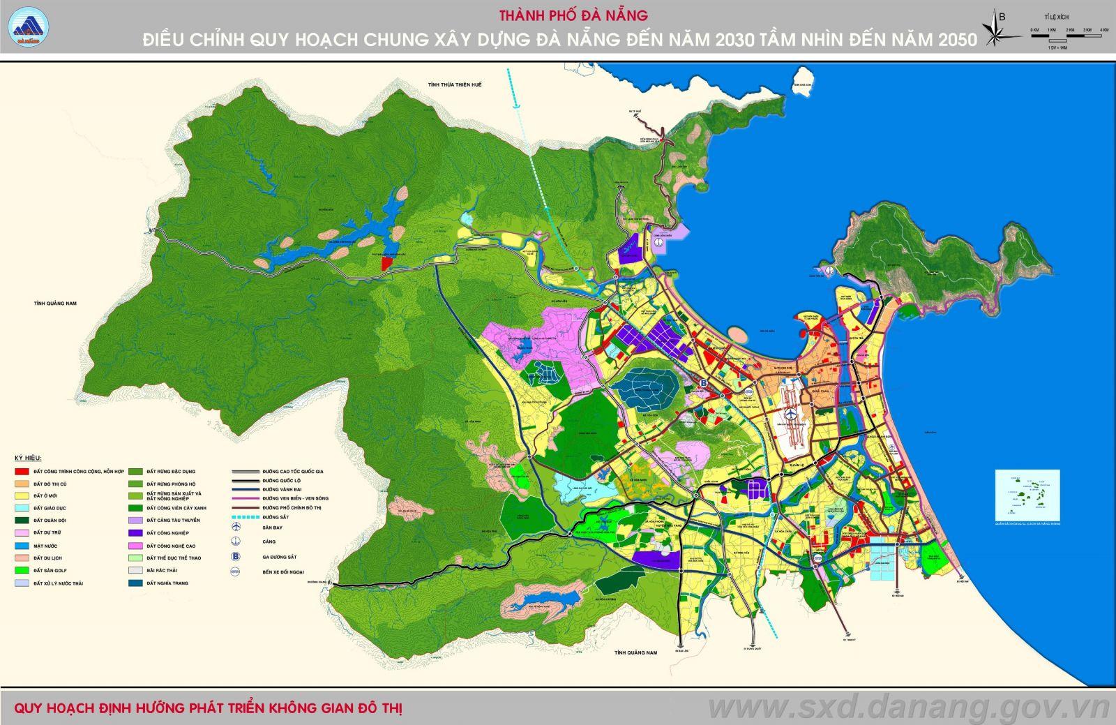 Chi tiết 12 phân khu của Đồ án điều chỉnh quy hoạch chung thành phố Đà Nẵng