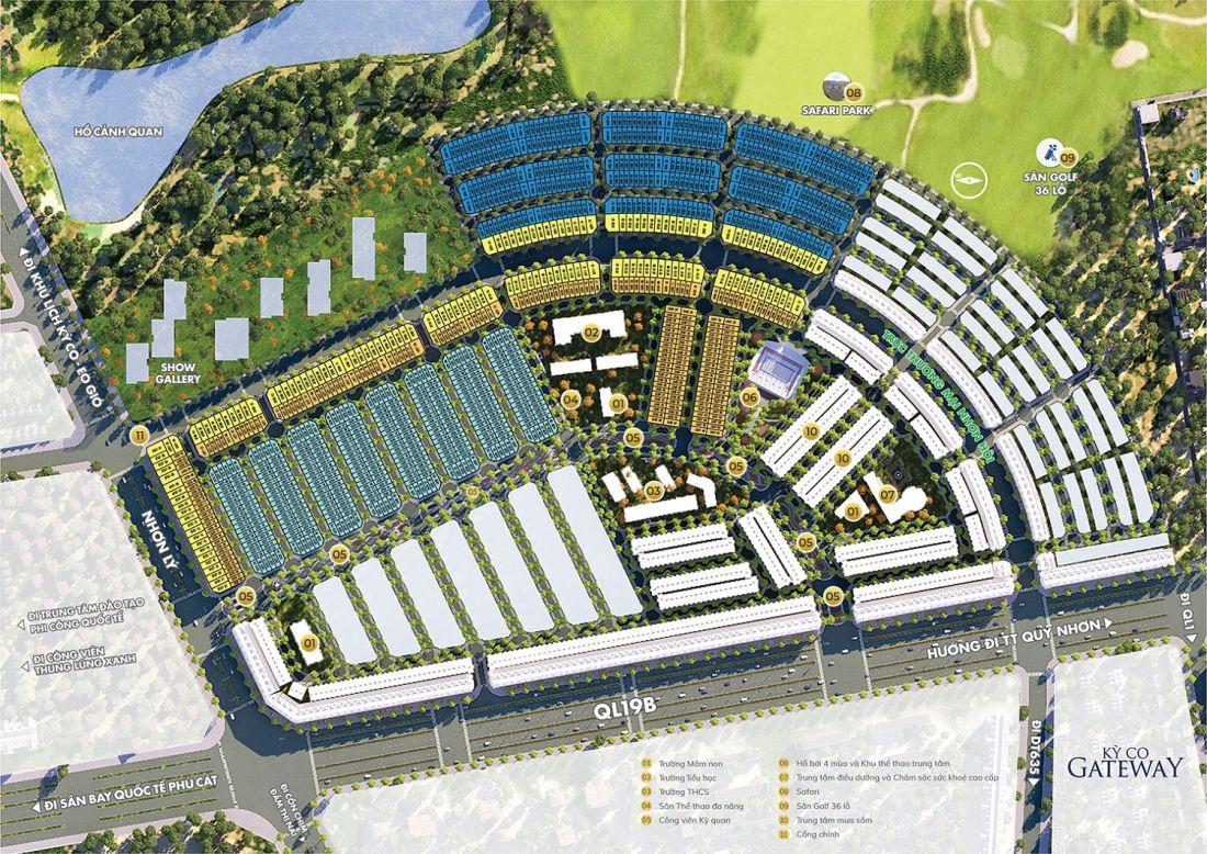 Mặt bằng tổng thể dự án đất nền Kỳ Co Gateway Quy Nhơn