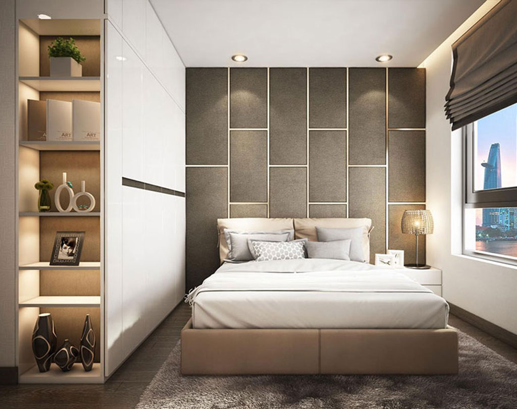 Phòng ngủ căn hộ chung cư đẹp