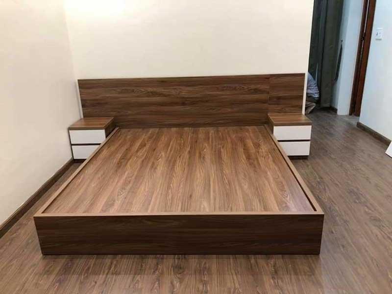 Giường gỗ melamine