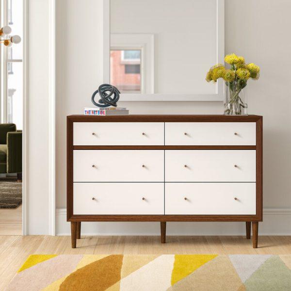 Tủ gỗ nhỏ gọn, phong cách giúp căn phòng thêm hiện đại