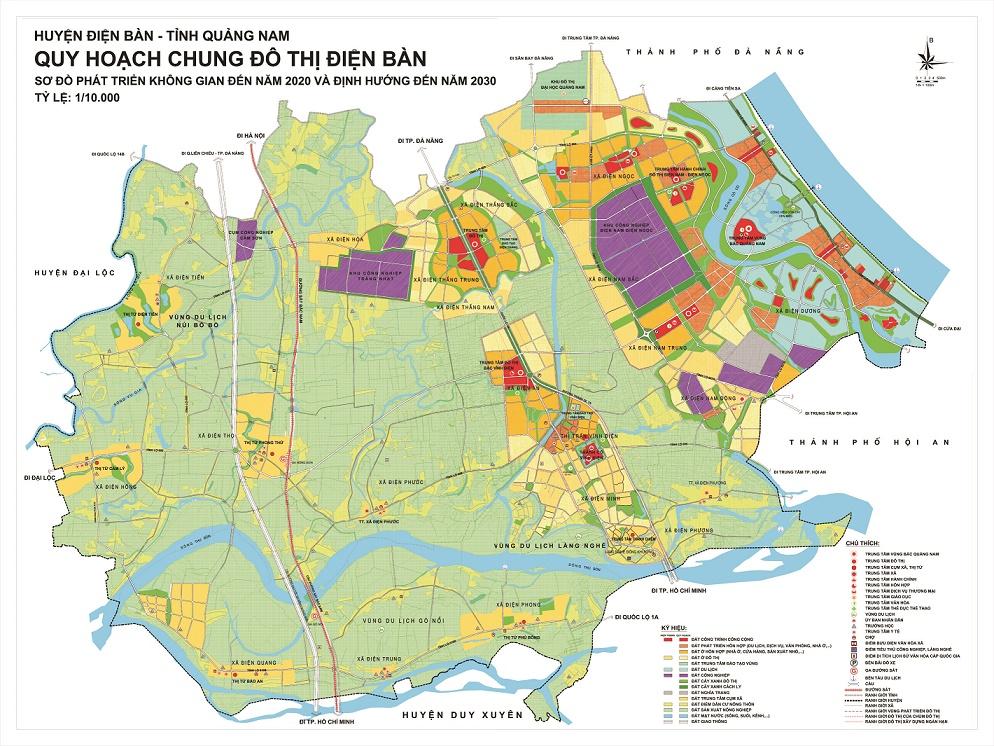 Quảng Nam: Điều chỉnh quy hoạch chung đô thị Điện Bàn theo hướng mở rộng ranh giới khu vực nội thị