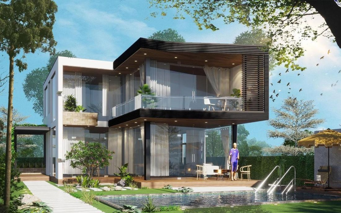 Phối cảnh biệt thự đơnlậptại dự án khu du lịch sinh thái nghỉ dưỡng Panorama Hill