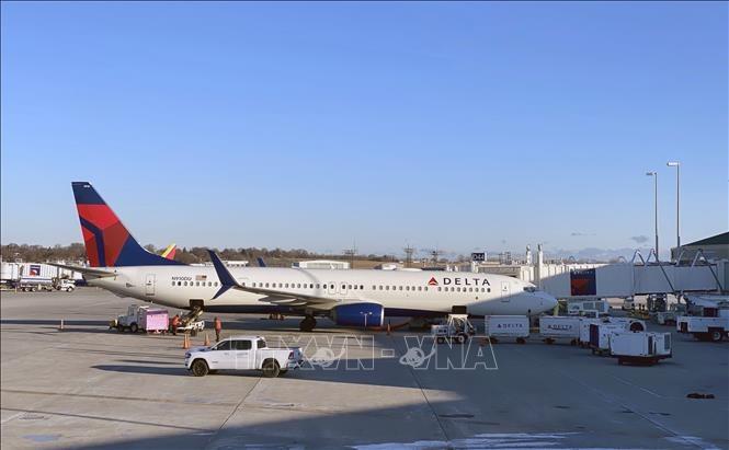 Máy bay của hãng hàng không Delta Air Lines. Ảnh: TTXVN